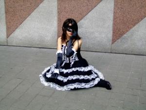 masked goth loli